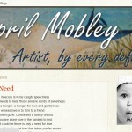 Blog design for April's Blog